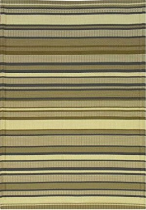 Mad Mats Stripes Indoor Outdoor Rug in Grey tones