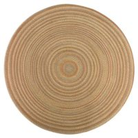 ITM Beacon Hill Camel Indoor/Outdoor Reversible Braided Rug, 8-Feet Round