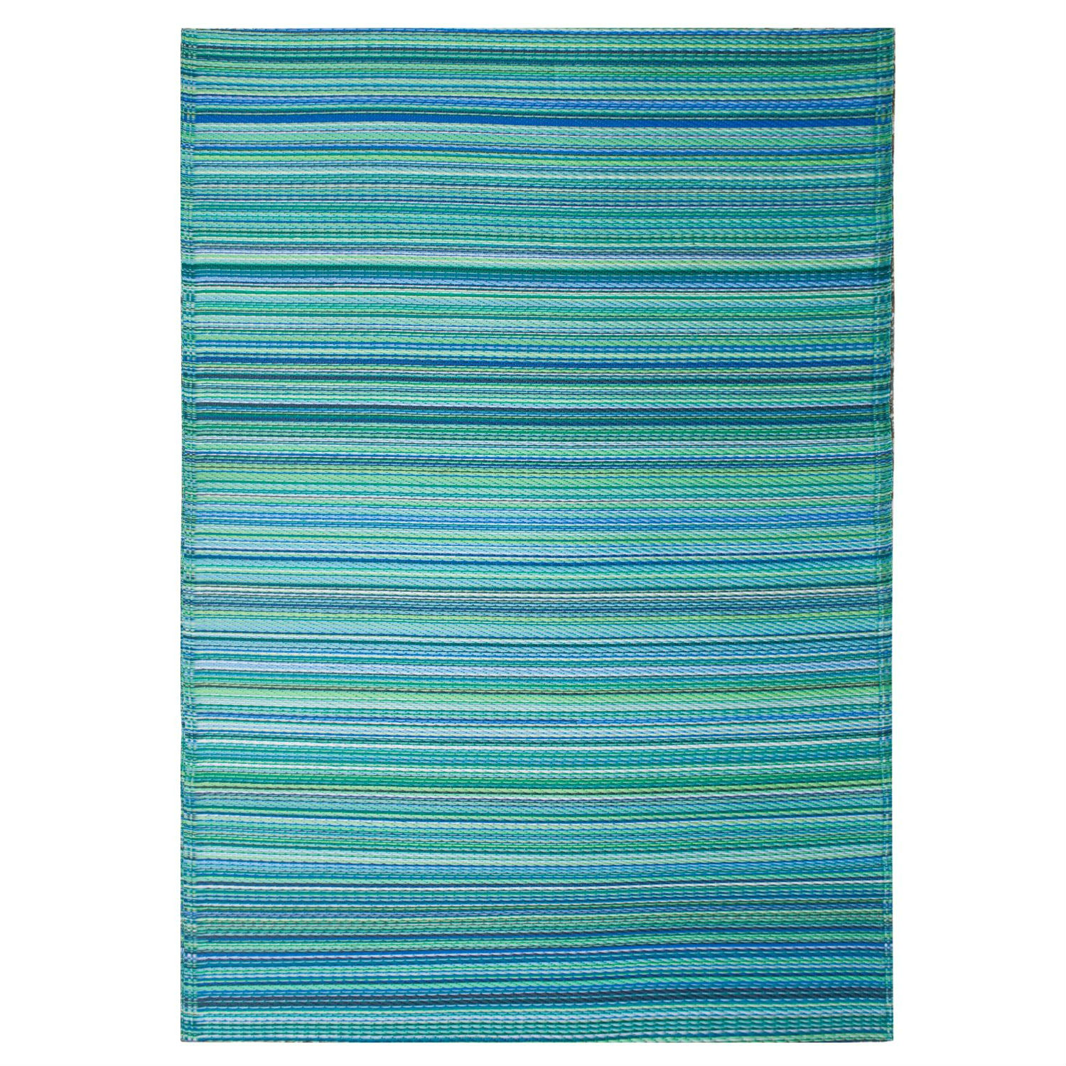 Outdoor Rug Mediterranean Colors Turquoise & Moss Green