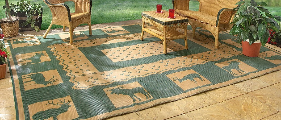 The Perfect 9 x12 RV & Camping Reversible Patio Mat