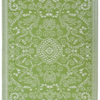Murano - Lime Green & Cream Lime green side outdooors indoors mat