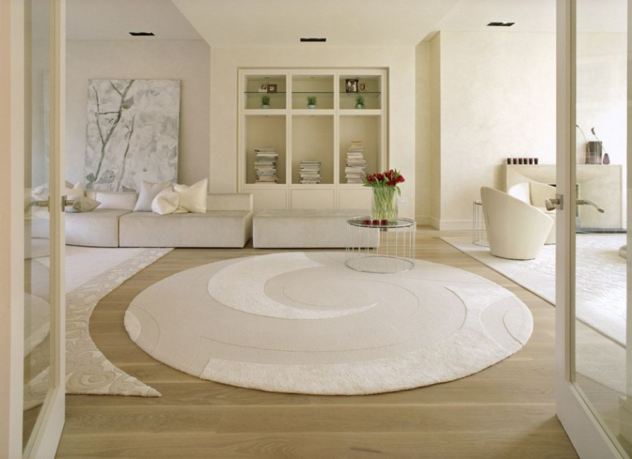 cream round area rugs