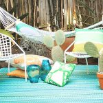 Cancun Outdoor Rug In Mediterranean Shades Of Turquoise & Moss Green