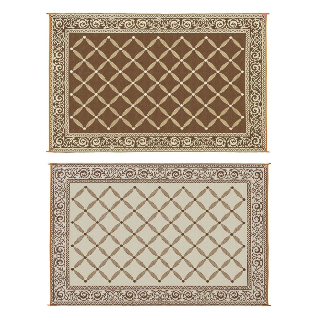 Reversible Mat Brown & Beige Patio Mat