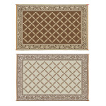 6′ x 9′ Reversible Mat For Outdoor Areas in Browns & Creams