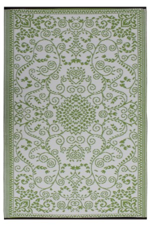 Murano Lime Green & Cream Indoor Outdoor Mat