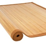 Bamboo Area Rug:  5′ x 8′ Large Sized Indoors Outdoors Mat In Neutral Colors