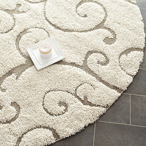 Safavieh Florida Collection Sg455 1113 Cream And Beige Round Area Rug 6 Feet 7 Inches In Diameter